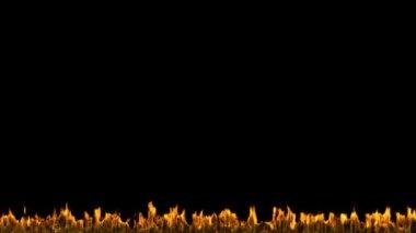 火と炎の cg アニメーションです。アルファ チャネルは含まれています — ストックビデオ