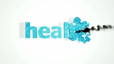 Gezondheid crash. abstracte vernietiging met slow motion — Stockvideo