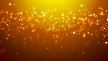 Loopable orange glitter and sparkles over gradient background — Stock Video