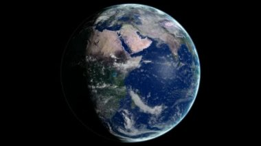 Loopable Planet Earth Rotating CG animation. Alpha channel is included — Stock Video