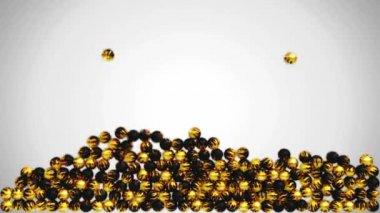 заполнение фрейма с окрашенные бусы или шарики — Стоковое видео