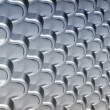 Stock Photo: Wavy metallic scales texture