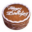 Stock Photo: Happy birthday: sandwiched chocolate cake