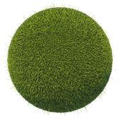 Eco and environment: green fresh grass globe — Zdjęcie stockowe