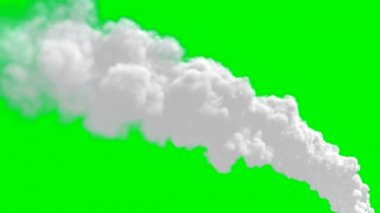 Chimney flue smoke timelapse over green screen — Stock Video