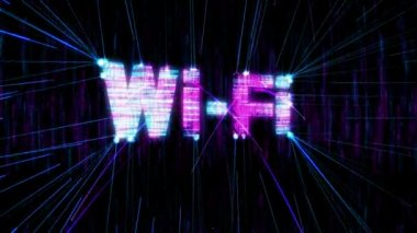 Loopable Wi-Fi animation — Stock Video