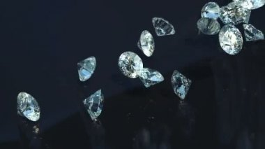 Loopable Large diamonds rolling over with slow motion — Stock Video
