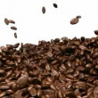 Coffee beans mixing and tossing up with slow motion — Stok video