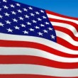 Seamless loop waving USA flag. Alpha channel is included — Stock Video #13959175