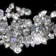 Loopable diamonds or gems flow with slow motion — Stock Video