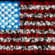 Loopable glittering and sparkling USA flag — Stock Video