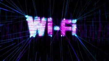 Animación loopable wi-fi. — Vídeo de Stock