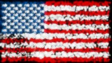 Loopbare glinsterende en mousserende usa vlag — Stockvideo