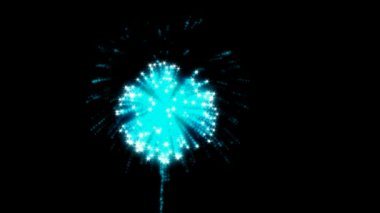 Loopable Fireworks with slow motion — Stock Video