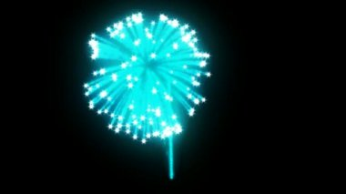 Blue rotating Fireworks with slow motion — Stock Video