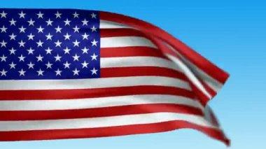 Seamless loop waving USA flag. — Stock Video