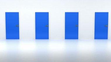 Way to freedom. Door opening to light — Stock Video