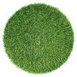 Stock Photo: Environment: green fresh grass globe or planet isolated