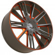 Front side view of Alloy wheel isolated — Stock Photo