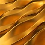 gyllene abstrakt vågor mönster — Stockfoto