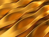 Gouden abstract golven patroon — Stockfoto