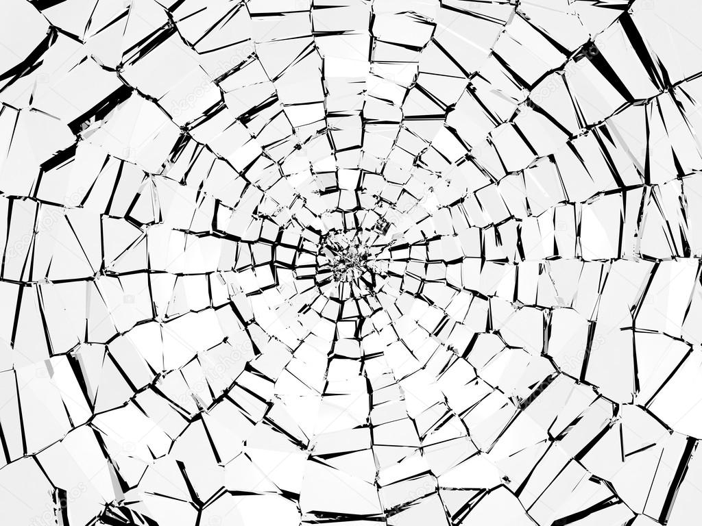 Cracked Glass Drawing Broken Glass Pattern
