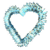 Jealousy and sharp love: crystal heart shape isolated — Stock Photo