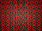 Alligator skin background with red victorian ornament — Stockfoto