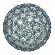 Diamonds or gemstones sphere isolated over white - Стоковая фотография