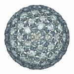 Diamonds or gemstones sphere isolated over white — Stock Photo