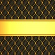 Leather background with golden blank line for caption — Stock Photo