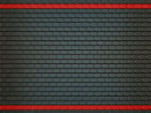Black Leather stitched background with scales and red lines — Stock Photo