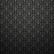 Постер, плакат: Alligator skin black background with impression victorian patter