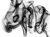 Mysterious: black smoke abstraction — Stock Photo