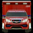 Stock Photo: Ambulance: Front view of emergency services vehicle