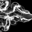 Stock Photo: Abstraction pattern: white smoke shape and curves