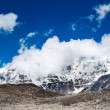 Himalaya: landscape panorama of Mountain peaks — Stock Photo