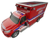 Ambulance: Top Side view of emergency services vehicle isolated — Stock Photo