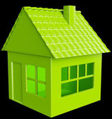 Realty and real assets: green house — Stock Photo