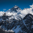Everest Mountain Peak or Chomolungma — Stock Photo