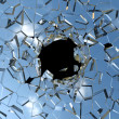 Broken shattered glass — Stock Photo #37679617