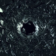 Shattered black glass — Stock Photo #38847697