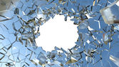Sharp Pieces and hole — Stock Photo