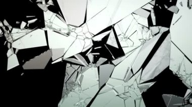 Broken and Shattered glass with slow motion. — Stock Video