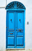 Traditional blue door — Stock Photo