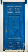 Blue wooden door — Stock Photo