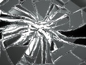 Shattered glass — Stock Photo
