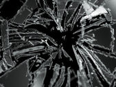 Broken Shattered glass — Stock Photo