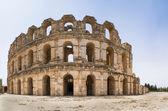 Roman amphitheater in El Djem — Stock Photo