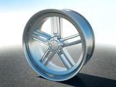 Alloy automotive disc — 图库照片